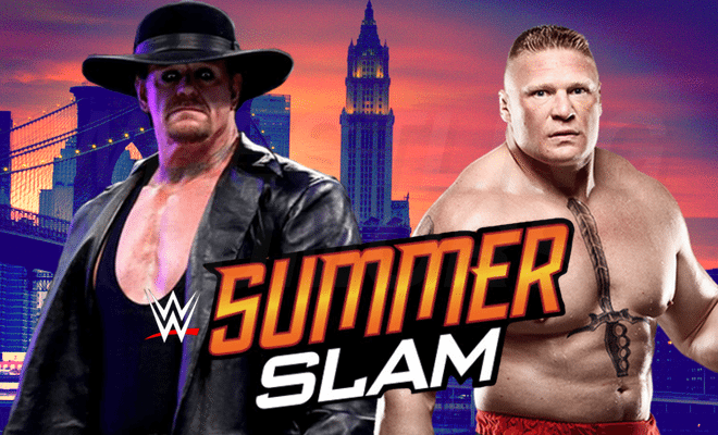 """Undertaker Will Face Brock Lesnar in the Main Event at """"SummerSlam"""""""
