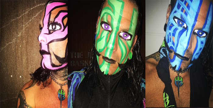 Jeff Hardy Reveals His Latest Face-Paint DesignJeff Hardy Wrestlemania 25 Face Paint